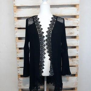 Moral fiber black kimono size large